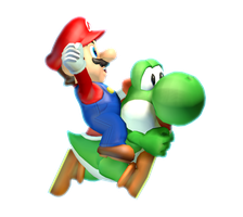 [Cinema 4D Render] Ride on-a my Yoshi! by MaxiGamer