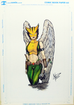 Hawkgirl color 11x17 inch by mpazin