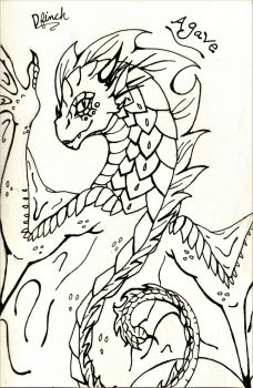Agave In Ink by DragonFinch