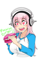 Sonico Macaron Burger! by coffeejelly