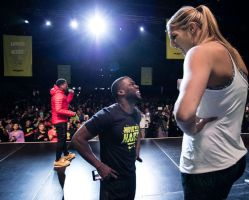 Elena Delle Donne and Kevin Hart by lowerrider