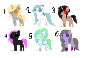Chibi Pony Adopts! :OPEN: by Shimmering-Adopts