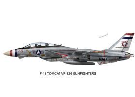 F-14 VF-124 Gunfighters Print by peter-pan03