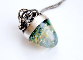 Necklaces from silver and lampwork by honeypunk