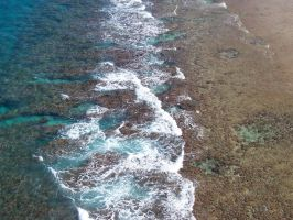 Reef from a Plane by OscarandCeara