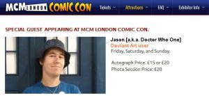 MCM London Comic-Con Special Guest by DoctorWhoOne