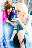 Do the magic! - Elsa and Anna cosplay by ForsakenWitchery