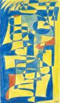 2002 fractured blue yellow by RumpusWriter
