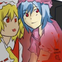 Flandre 'nd Remilia by MiyuWasHere