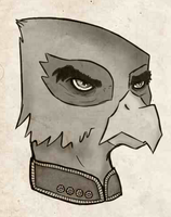 Aleksandr Kerensky griffinyfied(?) by WhatTheScoots