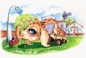 little giraffe by eminearslan