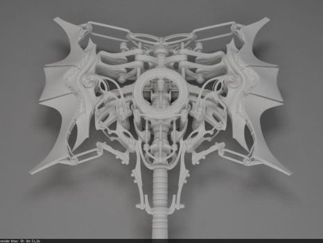 Heretic Battle Axe: Top view WIP by Samouel