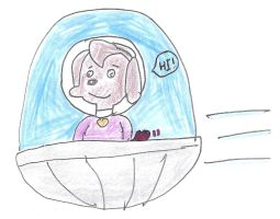 Nose Marie in a spaceship (updated) by dth1971