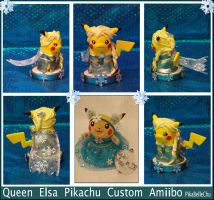 Custom Queen Elsa Pikachu Amiibo by pikabellechu