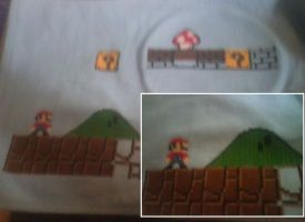 WIP Huge Mario Cross Stitch by sgoheen06