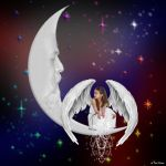 The Angel Of Hope And The Man In The Moon by JustmeTD