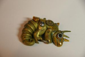 Steampunk chameleon by BlackRabbitArtisan