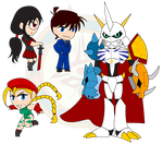 Assorted Chibis - Set 29 by Dragon-FangX