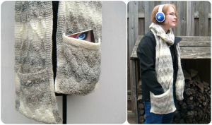 Unisex pocket scarf by PolClary
