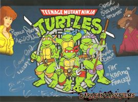 Teenage Mutant Ninja Turtles 1987 Autographs by xxXSketchBookXxx