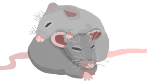 *squeaky request: mice sleepign on eachother* by useless-slenderthing