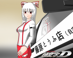 Touhou Initial D by redcomic