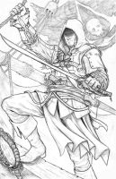 Edward Kenway- Black Flag (sketch) by WiL-Woods