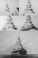 Work In Progress: Battleship Bismarck by RainerKalwitz