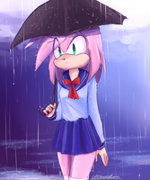 Walk in the rain by Klaudy-na