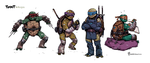TMNT redesigns. by TheWoodenKing