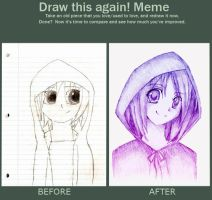 Draw this again meme by XstellarxangleX
