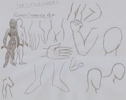 The Little Siders- Female Ref Sheet by DarkOliver