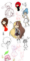 Doodles + Never Finished Drawings Dump by Rockinface
