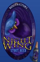 Night Wing Stout Beer Label by Natnie