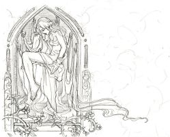 Rapunzel Cover Image WIP by AngelaSasser