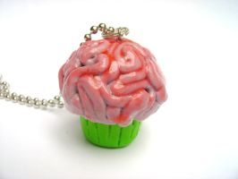 Brain Cupcake by monsterkookies