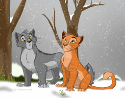 Leaf-bare snowfall by KaiserTiger