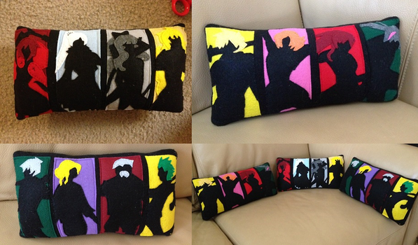RWBY Pillow Set by BaconFlavoredCosplay