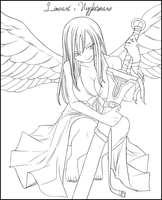 Lineart Erza by Dark-nyghtmare