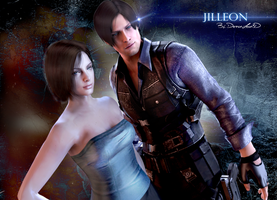 #Jill x Leon by DemonLeon3D