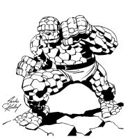 Jack Kirby Thing Inks by Irontree1973