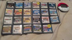 All my DS games by leafyloo