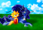 Lisa and Luna - two sweet and cute princesses by GladiatorRomanus