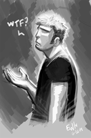 What The Flip - Warmup Sketch by EryckWebbGraphics