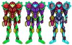 New Omega Metroid Suits by DBZ2010