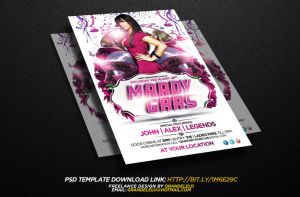 Mardi Gras Flyer Template by Grandelelo