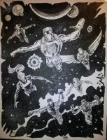 ROM and the Spaceknights by dannphillips