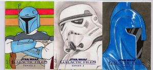 Star Wars Galactic Files series 2 sketch cards 13 by DarklighterDigital