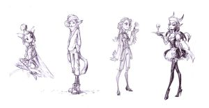 Skinny style sketches by vidagr
