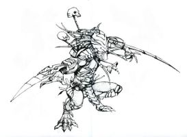 Chopper Predator linework by BowenJ